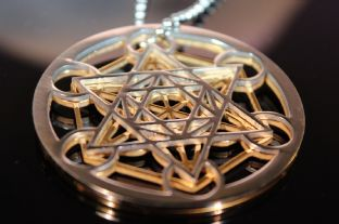 5G PROTECTION - Metatron Cube 3d Stainless Steel Pendant